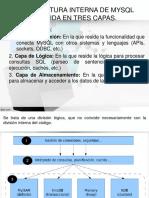 CLASE ARQUITECTURA INTERNA DE MYSQL DIVIDIDA EN TRES CAPAS.