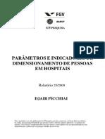 PARÂMETROS E INDICADORES DE DIMENSIONAMENTO DE PESSOAS EM HOSPITAIS