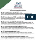 Graduate Course Descriptions MBA