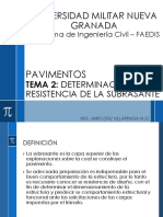 TEMA 2-Determinación de la resistencia de la subrasante