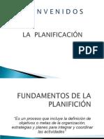 2- LA PLANIFICACIÓN- GENERALIDADES