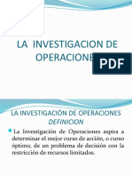 LA INVESTIGACIÓN DE OPERACIONES