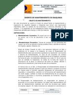 PROCEDIMIENTO MANTENIMIENTO DE MAQUINAS