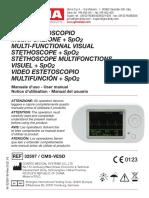 manual estetoscopio pulsoximetro contec choice CMS-VESD