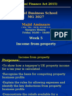 MG 3027 TAXATION -Week 5 Income From Property