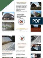 Folleto ejecutivo  cubierta APVC  techos .forros. paredes 2018