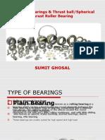 Spherical and spherical thrust bearings
