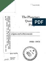 The Planetary Quarantine Program Origins and Achievements, 1956 - 1973