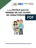 PROTOCOLO DE LAS FICHAS DE CARACTERIZACION