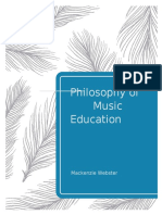 webster philosophy of music
