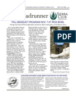 September-October 2009 Roadrunner Newsletter, Kern-Kaweah Sierrra Club