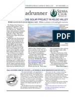 November-December 2010 Roadrunner Newsletter, Kern-Kaweah Sierrra Club