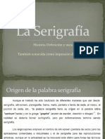 1 Historia de La serigrafia