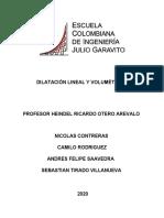 DILATACIÓN LINEAL Y VOLUMETRICA