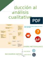 Introducción al análisis cualitativo