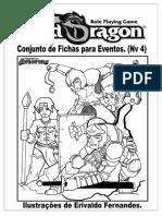 Minhas  fichas Old dragon para eventos (Nivel 4)