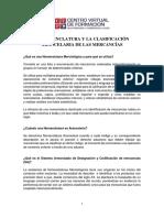 1. Nomenclatura y clasificación arancelaria 2022