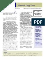 November 2008 Mineral King Group Newsletter, Sierrra Club