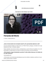 Fernanda del Monte - Teatro UNAM