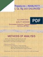Alkalinity Hardness &Chloride