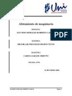 ALISTAMIENTO DE MAQUINAS