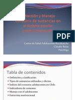 Deteccion y Manejo Consumo de Sustancias Dentro Ambito Escolar Claudia Rojas