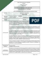 LECTURA COMPRENSIVA PARA CUALIFICACION DE INSTRUCTORES