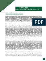 23.-INTERPRETACIÓN Y PRESENTACIÓN DE RESULTADOS