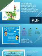 CONVENCION DERECHOS DE LOS NIÑOS  UNICEF Y LA