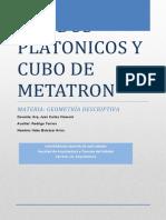 SOLIDOS PLATONICOS Y CUBO DE METATRON