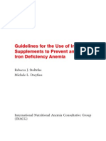 Guidelines for Iron Supplementation