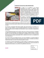 LIMA LA CIUDAD DE LAS BARRERAS DISCRIMINATORIAS
