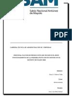 MONOGRAFIA - PIZZERIA PUNTO DE ENCUENTRO-FACTORES DE PRODUCCION