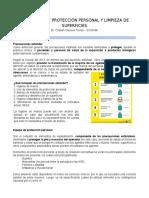 8. Elementos de protección personal y limpieza de superficies