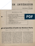 Bulletin du secrétariat européen de la IVe Internationale, Vol. 1, n° 1, mai 1946.