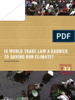 Is world trade law a barrier to saving our climate?