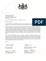 Lebanon County officials letter to Gov. Tom Wolf