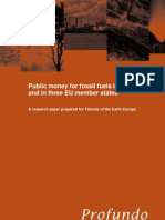 Public money for fossil fuels in the EU and in 3 EU member states