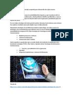 Identifica la plataforma informática requerida para el desarrollo de un plan maestro