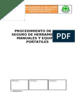 PROCEDIMIENTO DE USO SEGURO DE HERRAMIENTAS MANUALES Y EQUIPOS PORTATILES