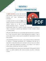 SESIÓN I SUBGENEROS DRMATICOS