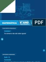 8º Ano EF Matemática - Aula 1