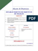 ESTABLECIMIENTO DE OBJETIVOS DE TRABAJO