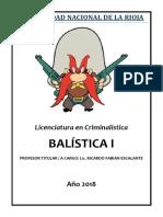 BALISTICA I 2018