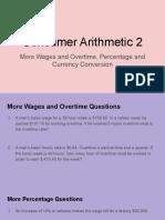 Consumer Arithmetic 2