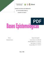 TALLER- BASES EPISTEMOLOGICAS