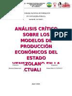 MODELOS DE PRODUCCION ECONOMICOS