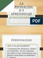 La Personalidad y Aprendizaje Tema 3