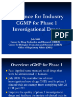 CGMP for Phase 1 Mar09