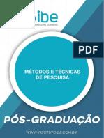 METODOS E TECNICAS DE PESQUISA